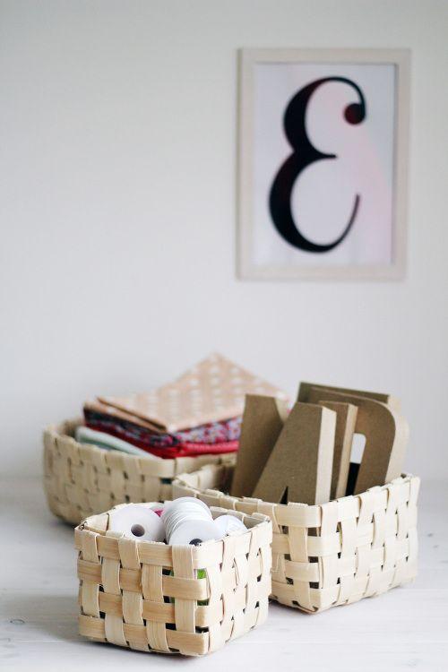 DIY Woven Baskets.