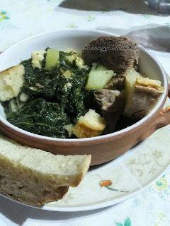 Gli assaggi di Tonia: Minestra di cicoria con brodo di carne