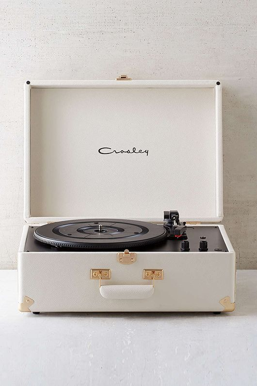 white crosley turntable