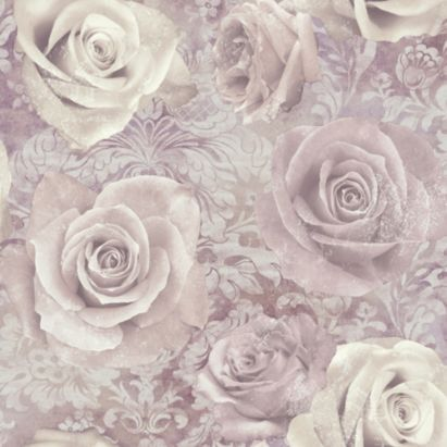 unlimited reverie mauve purple floral wallpaper floral. Black Bedroom Furniture Sets. Home Design Ideas