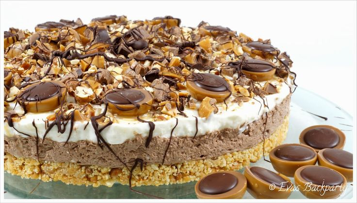 Evas Backparty : cremige Toffifee - Torte ( ohne zu Backen )