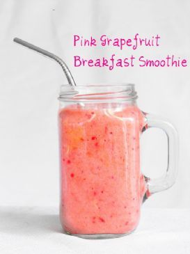 Pink Grapefruit Smoothie {188 calories} 1 grapefruit 1 banana 1 cup strawberries 1/2 cup bolthouse juice c-boost 2 cups spinach** 1/2 cup greek yogurt 1 scoop whey protein powder