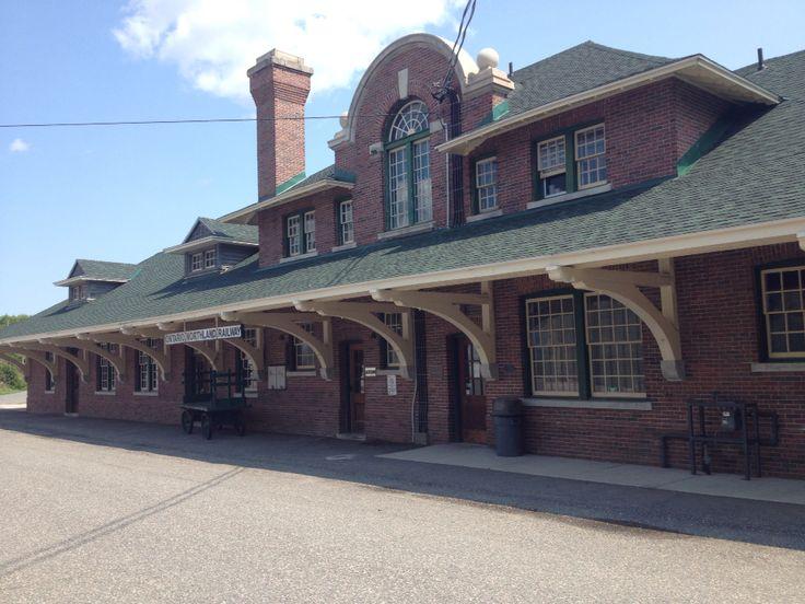 Old train station in Cobalt, Ontario