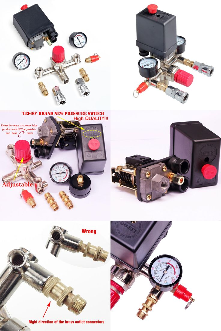 [Visit to Buy] 1pc 90-120PSI Air Compressor Pressure Switch Valve Manifold Regulator Gauges 240V 20A #Advertisement