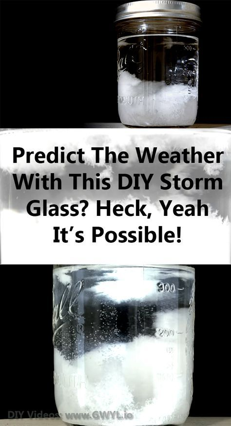 Here's a video that will take you through the steps of making a storm glass; a smart device that can give you a weather update!   Predict The Weather With This DIY Storm Glass?  See video and written instructions here: http://gwyl.io/predict-weather-diy-storm-glass/