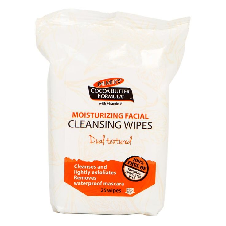 Palmer's Cocoa Butter Moisturising Facial Cleansing Wipes 25 wipes