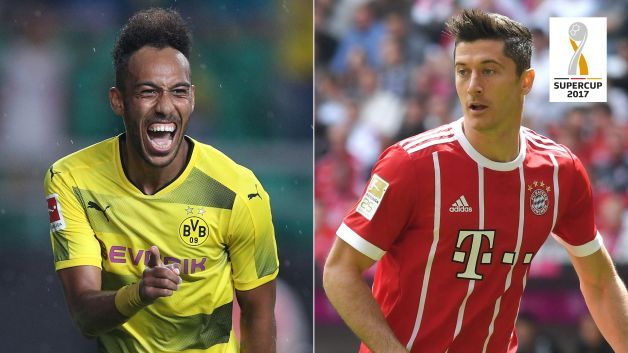 Goalgetters supreme Pierre-Emerick Aubameyang and Robert Lewandowski will face off on Saturday when Borussia Dortmund meet Bayern Munich in the Supercup.