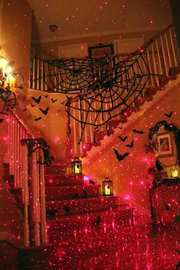 Going all out for Halloween is awesome! Here's the spooky end of it! Very easy to throw up the spider webs and bats with some lights! May be a tad pricey but totally woth it!☺️