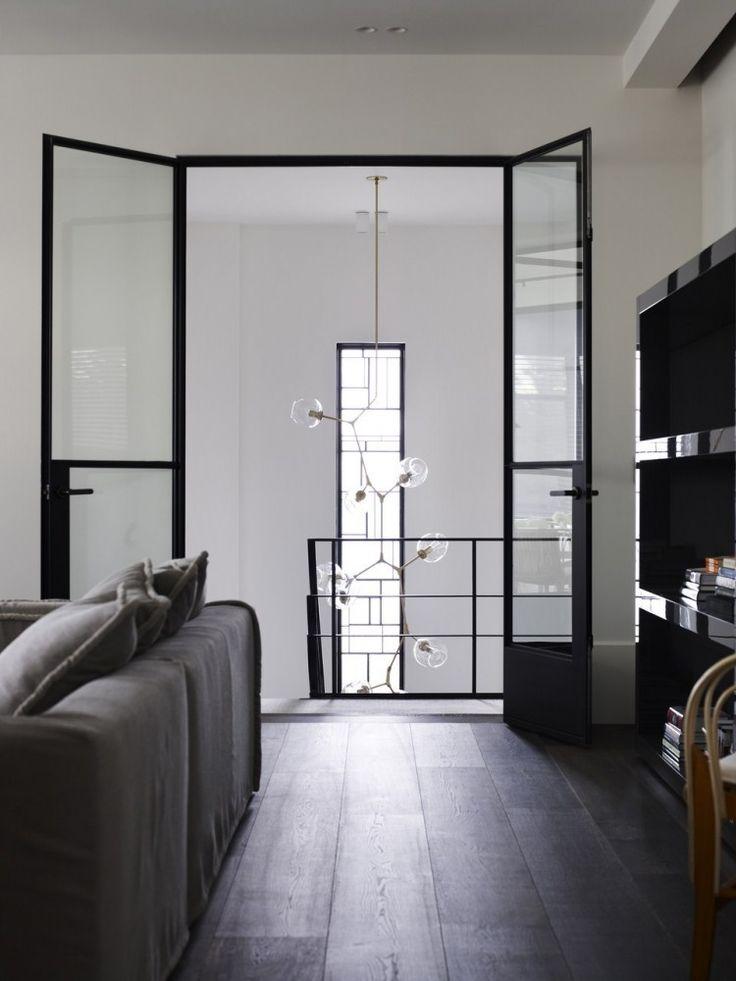 Living room with steel Doors