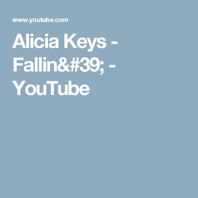 Alicia Keys - Fallin' - YouTube