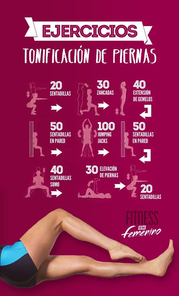 Ejercicios - Tonificación de piernas!