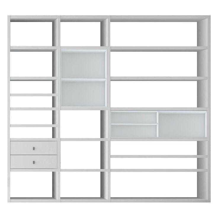 Die besten 25+ Regalwand weiß Ideen auf Pinterest weiße Regale - hausbibliothek regalwand im wohnzimmer