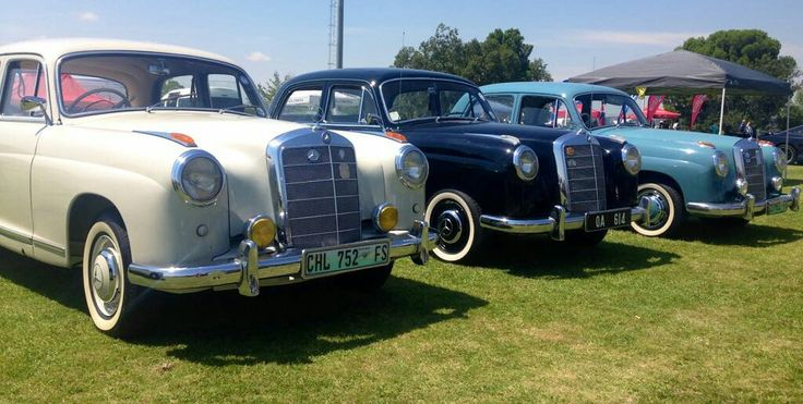 Mercedes 219's on show.
