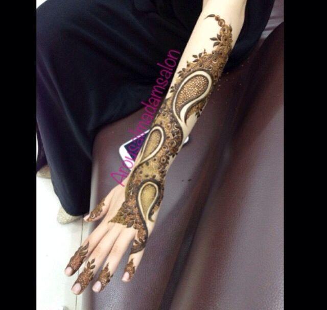 New henna  Unique henna design #AishaHina #hennaboard