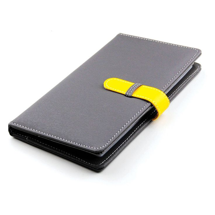Grey Colour PVC Women Cardholder with Yellow Strap Detail