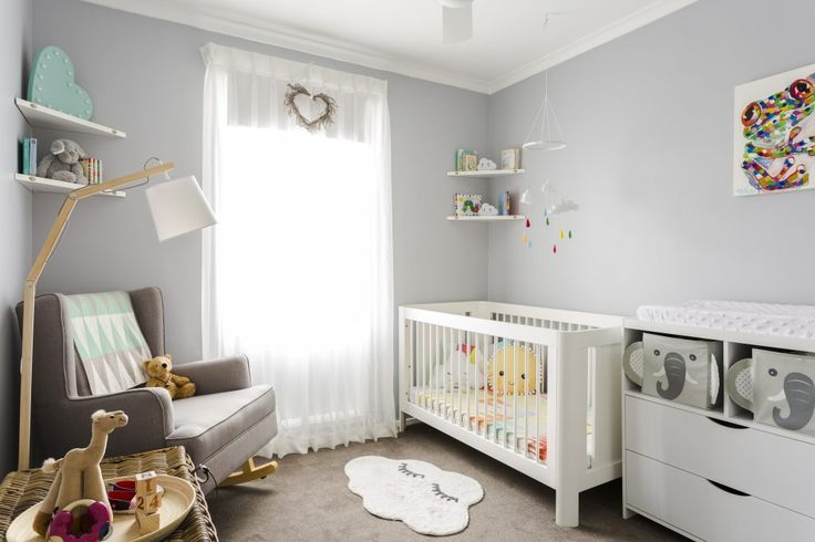 Sweet Dreams: Our Favorite Children's Bedrooms | Interior Design by Silvia Roldan | Photography by Courtney King | Modern Sanctuary | Nursery Inspiration | Neutral Nursery | Art Inspiration | Children's Art | Seating | Transitional Seating | Lighting Inspiration | Modern Lighting | Floor Lamp