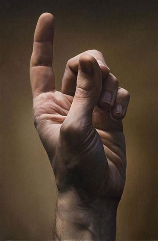 pintura hiperrealista DE JAVIER ARIZABALO