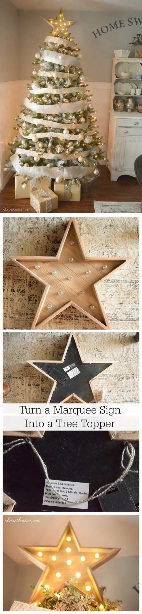 Marquee Star Tree Topper. Give your Christmas tree some extra glow with our marquee-style topper.
