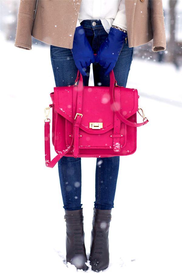 Bright winter style.