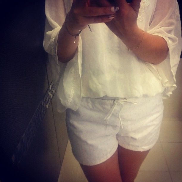 #white #shorts #lace #koronka #pattern #sewing #machine #summer #spodenki #lato #weekend #party #szyjemy #print #project #outfit #trend #girl #fashion