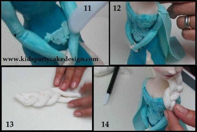 Elsa Dress Tutorial - CakesDecor