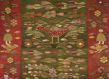 Traditional Romanian homespun rug
