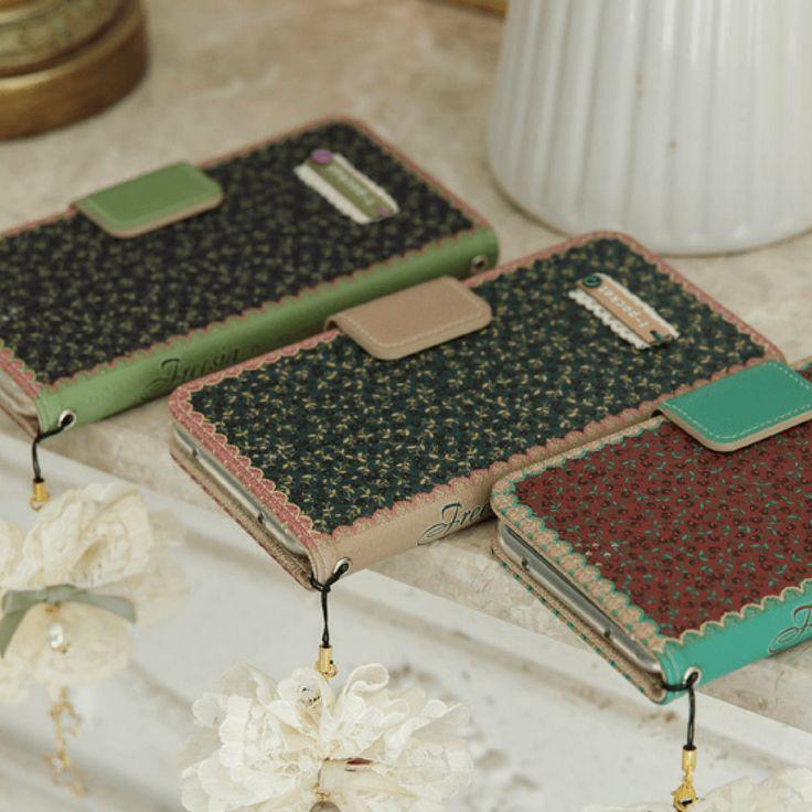 Freesia Handmade Wallet Case - Wine