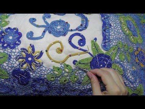 Pizzo irlandese all'uncinetto - Lesson crochet mesh in Irish lace. - Solo Video Uncinetto