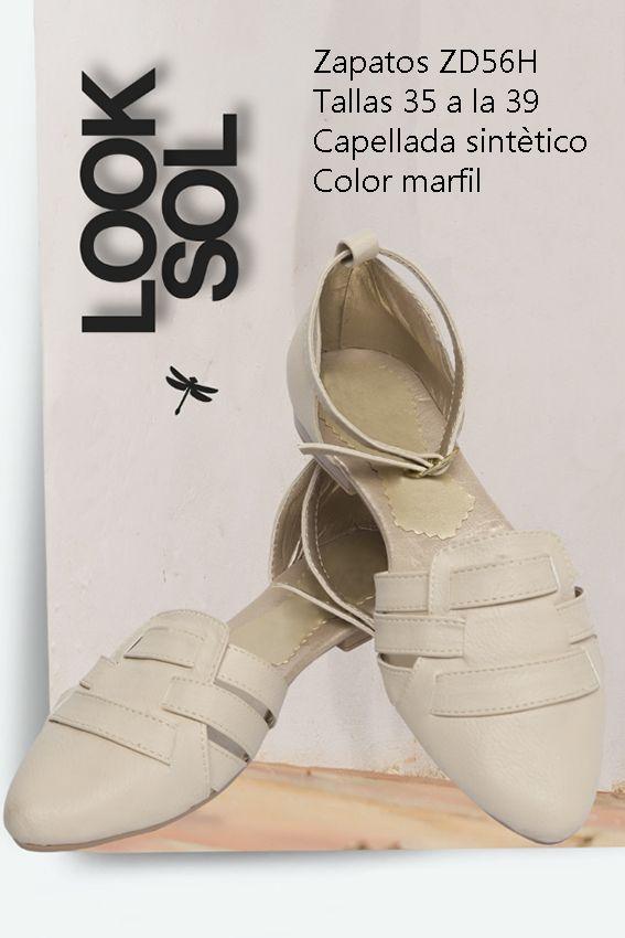 Zapatos en sintético Referenia: ZD56H Tallas: 35 a la 39 Color: Marfil Precio: $55.000