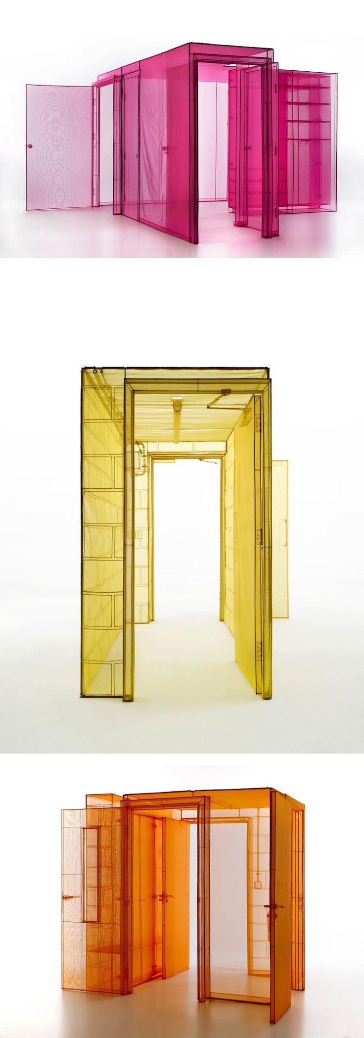 Installation art by artist Do Ho Suh // architectural replicas