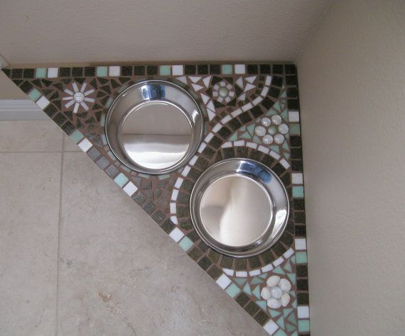 Bloomin Mosaic Diner by MarysPoshDoggieDiner on Etsy, $155.00