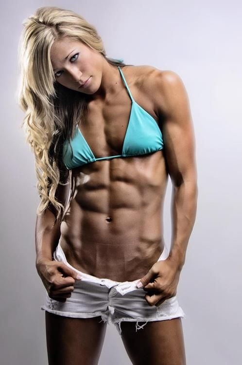 ripped woman abs fucking