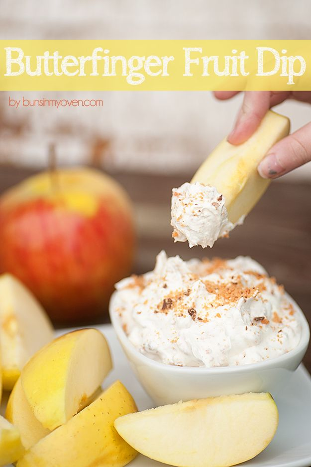Butterfinger Fruit Dip - impossibly fluffy and tasty!