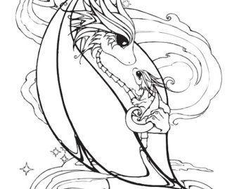 mother and baby dragon coloring page in 2020   babydrache, ausmalbilder zum ausdrucken, ninjago