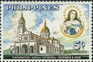 The immaculate conception and Manila cathedral