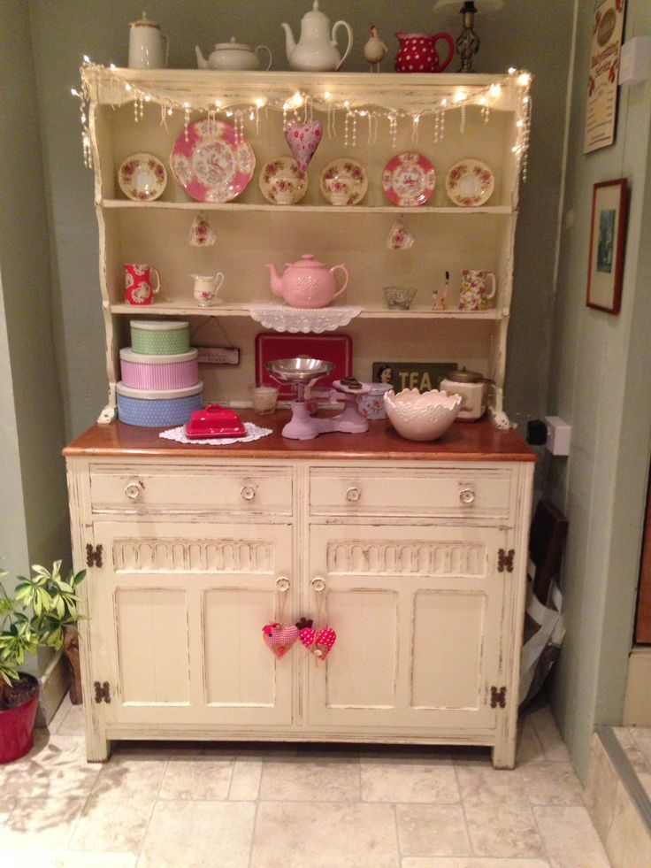 My Welsh dresser, painted in Farrow & Ball eggshell. Great paint color idea!