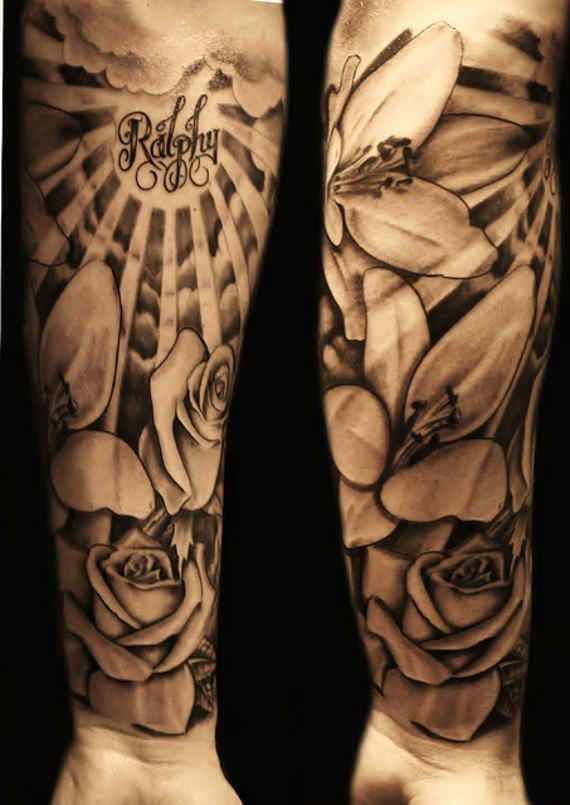 13 best Forearm Flower Tattoo Designs For Men images on Pinterest ...