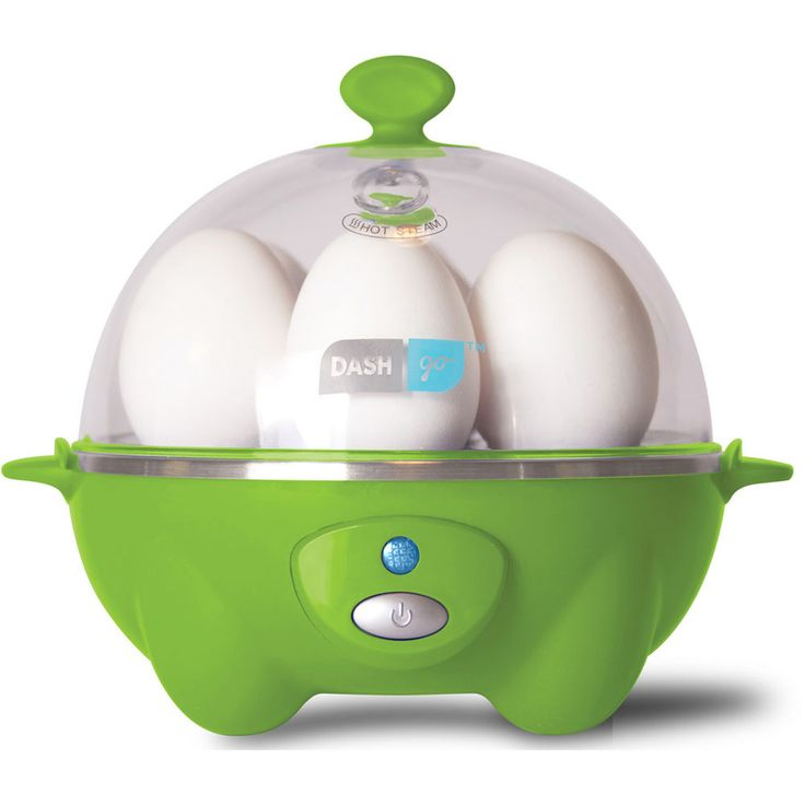 This electric egg cooker prepares up to 6 eggs at once, and can makes soft, medium and hard boiled eggs in 12 minutes or less.  You can also poach up to 2 eggs at once.