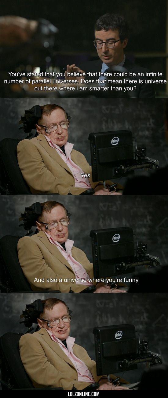 Stephen Hawking - The Theory Of Burns #lol