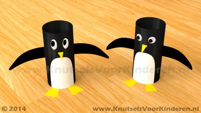 Pinguin van wc rol - Knutsels Voor Kinderen - Leuke Ideeën om te Knutselen met Duidelijke Uitleg
