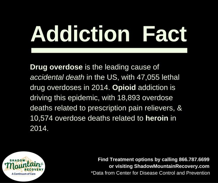 Drug overdose is the leading cause of accidental death in the US. #AddictionFacts ○○○ #Addiction #Recovery #AddictionRecovery #ShadowMountainRecovery #rehabilitation #detoxification #detox #rehab #Aspen #Cascade #ColoradoSprings #Denver #Colorado #Albuquerque #Taos #NewMexico #StGeorge #Utah #RecoveryIsPossible #RecoveryIsWorthIt #WeDoRecover #12Steps #12Step #Sober #Sobriety #KnowTheFacts #Overdose #Heroin #Opioids #Death