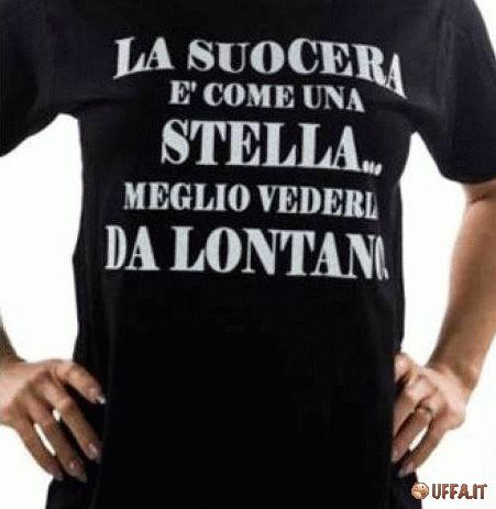 Maglietta dedicata alla suocera - Foto divertente | Uffa.