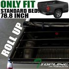 """ROLL-UP SOFT TONNEAU COVER 14-16 17 CHEVY SILVERADO 1500/2500/3500 6.5'/78"""" BED"""