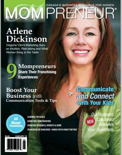 MOMpreneur Magazine Back Issue ftg. Arlene Dickinson
