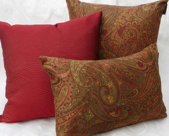 throw pillows images | Traditional Throw Pillows in Autumn Colors