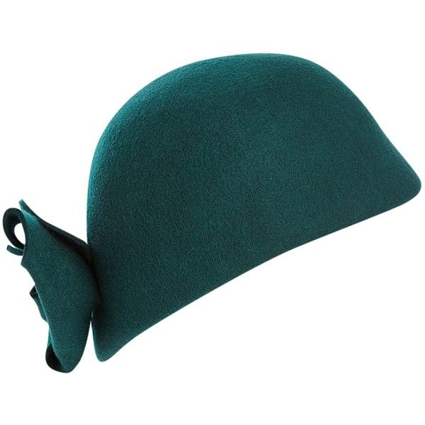 Dickins & Jones Cloche hat (1 425 UAH) ❤ liked on Polyvore featuring accessories, hats, fascinators, green fascinator, cloche hats, hair fascinators, fascinator hats and green hat