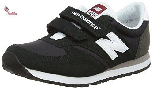 New Balance 420 Hook and Loop, Baskets Basses Mixte Enfant, Noir (Black), 37.5 EU - Chaussures new balance (*Partner-Link)
