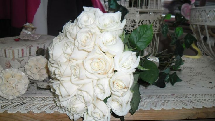 simple white roses