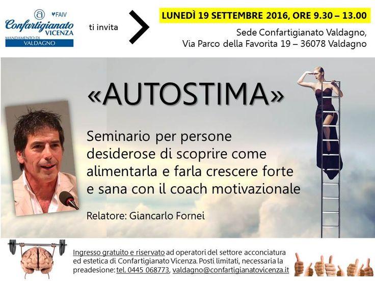 Autostima - seminario motivazionale di Giancarlo Fornei alla Confartigianato di…