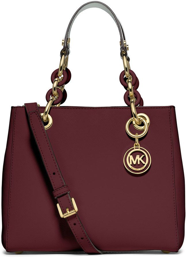 MICHAEL Michael Kors Cynthia Small North-South Satchel Bag, Merlot ... da1b1ef1b8
